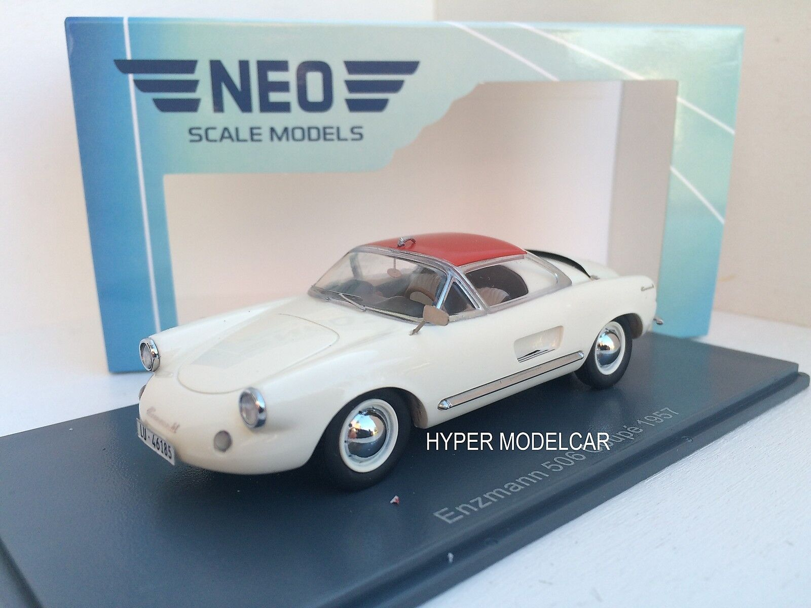 NEO SCALE MODEL 1 43 Enzmann 506 Coupè (Basis Vw) 1957 blanc Art.46185