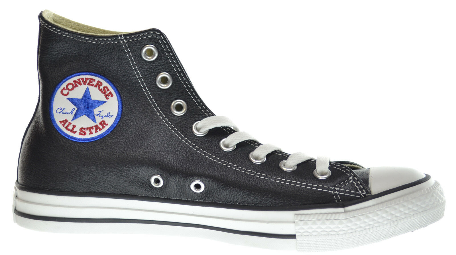 Converse Chuck Taylor Leather All Star Hi Men's Leather Taylor Sneakers Black 1s581 8535c2