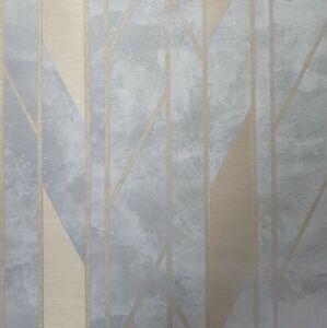 Modern-Gray-gold-bronze-metallic-contemporary-lines-faux-concrete-textured-3D