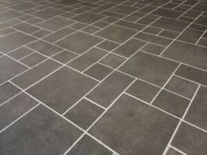 Details zu PVC Bodenbelag Fliesenoptik graphit anthrazit 400 cm Breite 5,00  €/qm SOPO