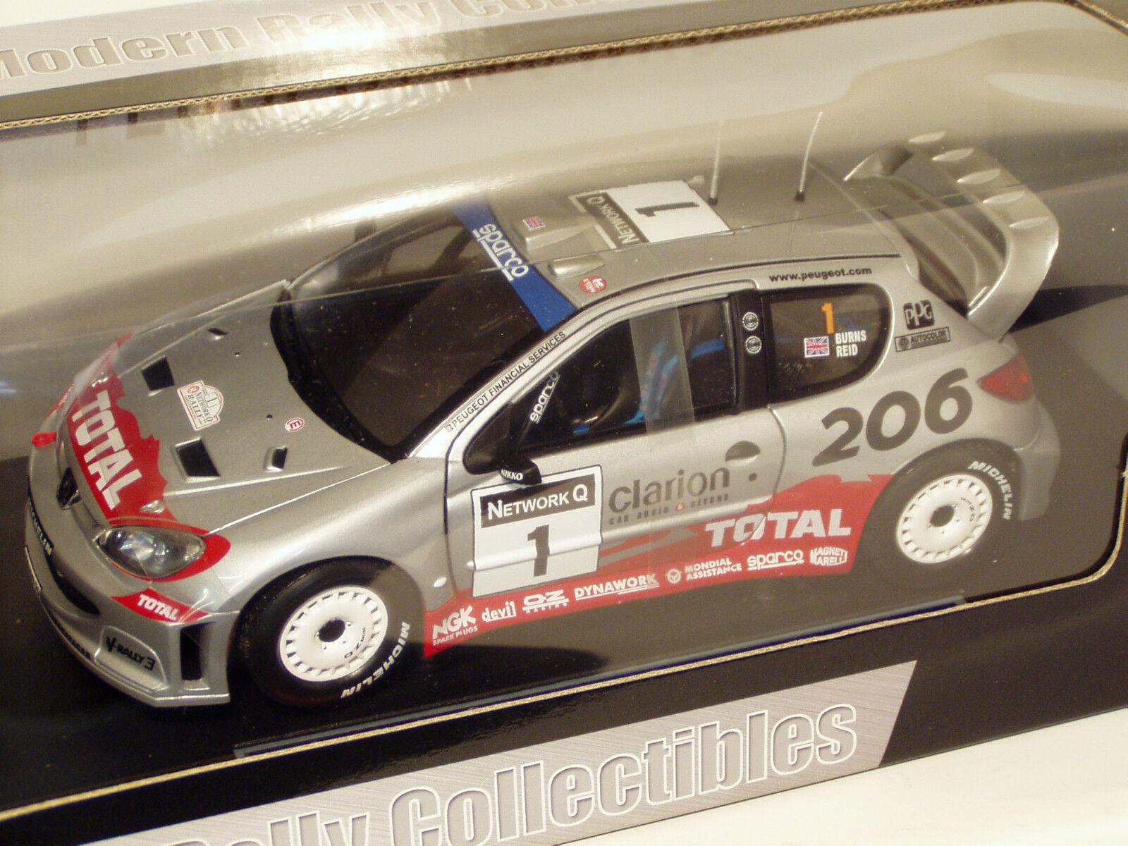 1 18 PEUGEOT 206 WRC total Network Q Rally GB 2002 Richard Burns