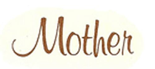 """6 Mother Old Gold 3//8/"""" tall X 1 1//4/"""" wide Waterslide Ceramic Decals Tx"""