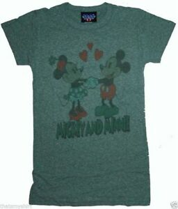 New-Authentic-Junk-Food-Mickey-Mouse-amp-Minnie-Tri-Blend-Juniors-T-Shirt-Size-S
