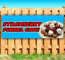 Strawberry Funnel Cake Advertising Vinyl Banner Flag Sign Carnival Fair Food