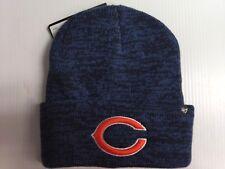 6ed4940282300 Chicago Bears 47 Brand Knit Hat Heathered Navy Brain Freeze Beanie Stocking  Cap