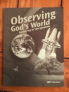 Abeka Observing Gods World Answer Key To Text Questions | eBay