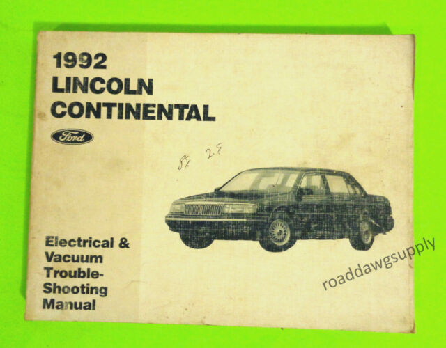 1992 Lincoln Continental Electrical Wiring Diagrams