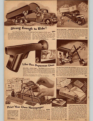 1931 PAPER AD Gilbert Erector Sets Toys Aircraft Zeppelin Steam Shovel