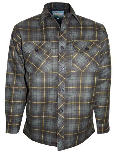 Men's Padded Work Shirts Quilted Cotton Lumberjack Shirt Top Coats Jackets M-XXL