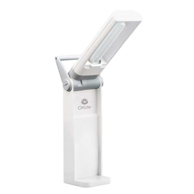 New Ottlite Hd 13w Folding Task Lamp W Swivel Base White Model T48086