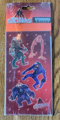 Small Soldiers Vintage Stickers MIP RARE Sealed