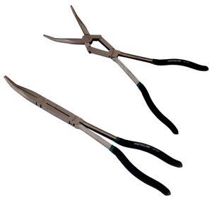 Pinze extra lunghe 13'' becco curvo a doppio snodo per valvole molle101502