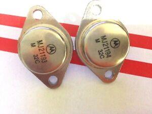 6-pares-MJ21193-MJ21194-Pnp-Npn-Transistor-De-Potencia-de-Silicio-Original-Motorola