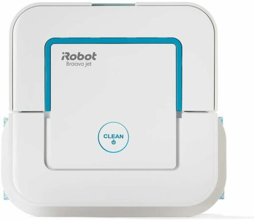 iRobot Braava Jet 240, robot mop water spray, 3 in 1: dry, damp and wet cleaning