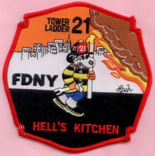 New York City Fire Dept Ladder 21 Patch Hells Kitchen