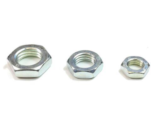 20-500 St. M4 DIN 439 04 verzinkte Sechskantmuttern Flache Form Muttern BM 4,0