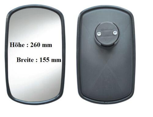Außenspiegel passend für John Deere Komatsu Kramer Kubota L.LKW ab ø 12-23 mm