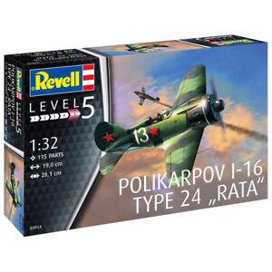 REVELL-Polikarpov-I-16-type-24-034-Rata-034-1-32-Aircraft-Model-Kit-03914