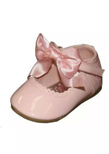 Pink-Patient-Girls-Shoes-Size-Infant-6-Bow-Spanish-Style-Melia-Mary-Jane-New