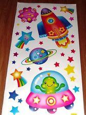 Bebé Infantil Niños Niño Chica Chico Chico Cohete Espacial pegatinas de pared calcomanía Dormitorio