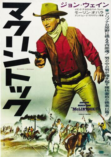 John Wayne movie poster print 2 McLintock! 1963