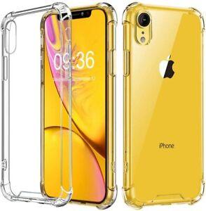 Housse protection silicone transparent coque renforcé  iPhone 11/XR/XS/6S/7/8/5C