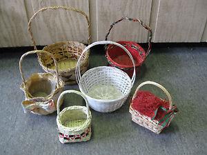 Lot Of 6 Wicker Baskets Home Decor Gift Baskets Ebay