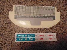JUKEBOX AMI WQ200 WALLBOX  RESTORE KIT  PLATE  OVERLAY COIN PLASTICS SELECTION