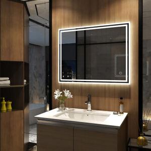 Details Zu Led Badspiegel Mit Beleuchtung 60x80 80x60 70x90 Touch Spiegel Kaltweißwarmweiß