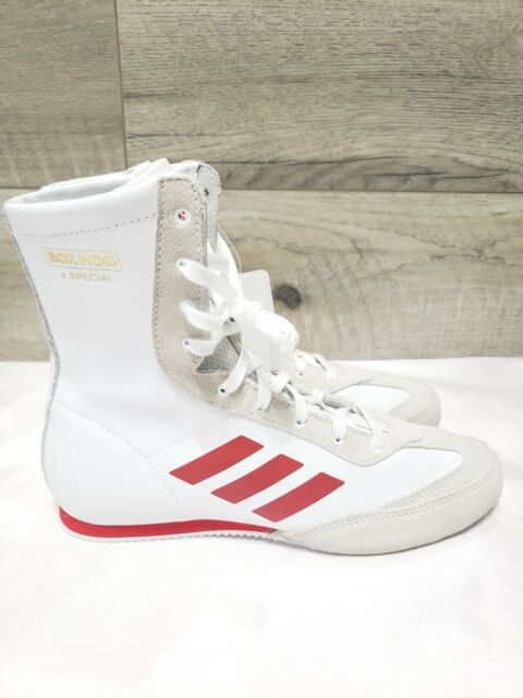 Adidas Mens Box Hog X Special Boxing Shoes Red White AC7148 Size 7.5