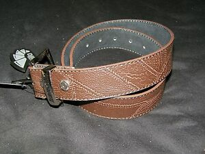 Armourdillo-NWT-Mens-Brown-Duststorm-Leather-Belt-Size-M-30-31-32-33-34-Skater