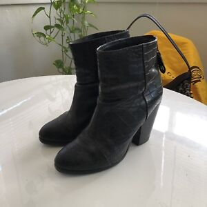 Rag & Bone Embossed Leather Ankle Boots where can i order high quality cheap 2015 new clearance wholesale price discount with credit card v01G3lf8w1