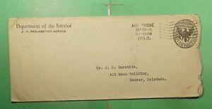1915 MONTROSE COLORADO DEPT OF INTERIOR OFFICIAL STATIONERY