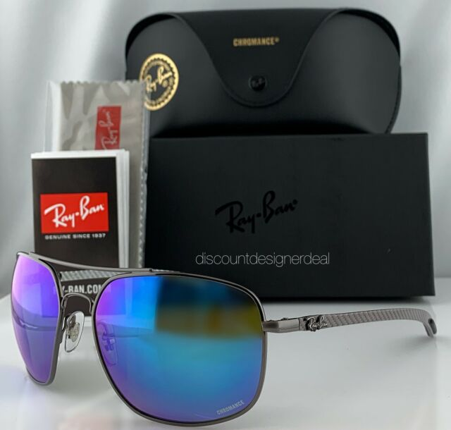 dc9a01a72 Ray-Ban RB8322CH 004/A1 Sunglasses Blue Mirror Polarized Chromance Carbon  62mm