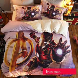 Iron Man Kinder Gift Bettwäsche Cosplay Bettdecke Quit Cover