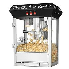 Superior Popcorn Black Countertop Movie Night Popcorn Popper Machine 8 Oz. Black