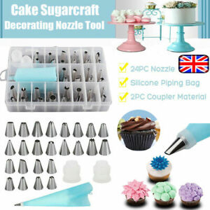 24pc-Professional-Cake-Decorating-Baking-Kit-Icing-Piping-Nozzles-Tools-Set