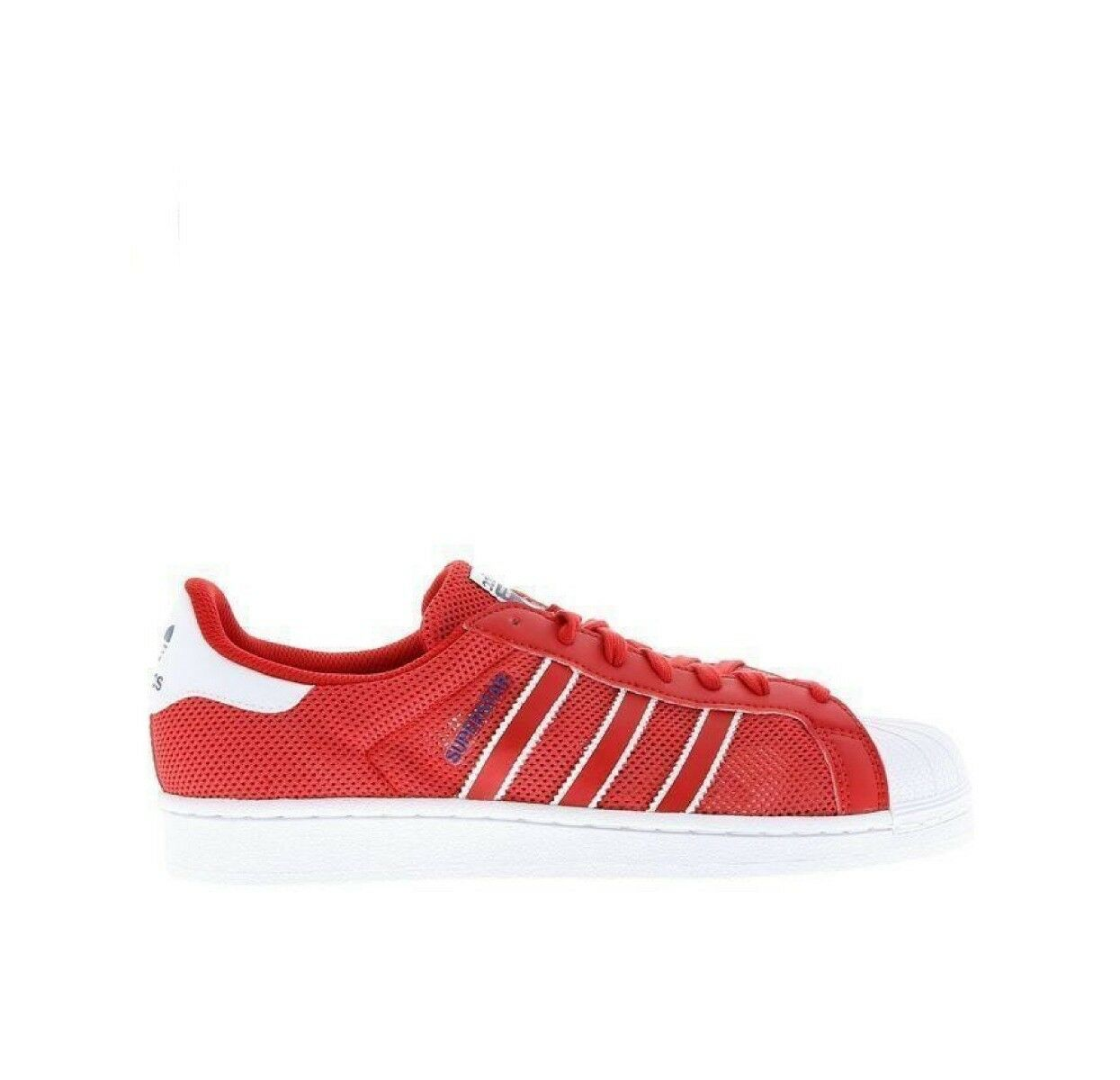 finest selection 609ec 44b09 Adidas Superstar Trainer Mens shoes Size 7 7.5 9.5 Red Trainer RRP - New