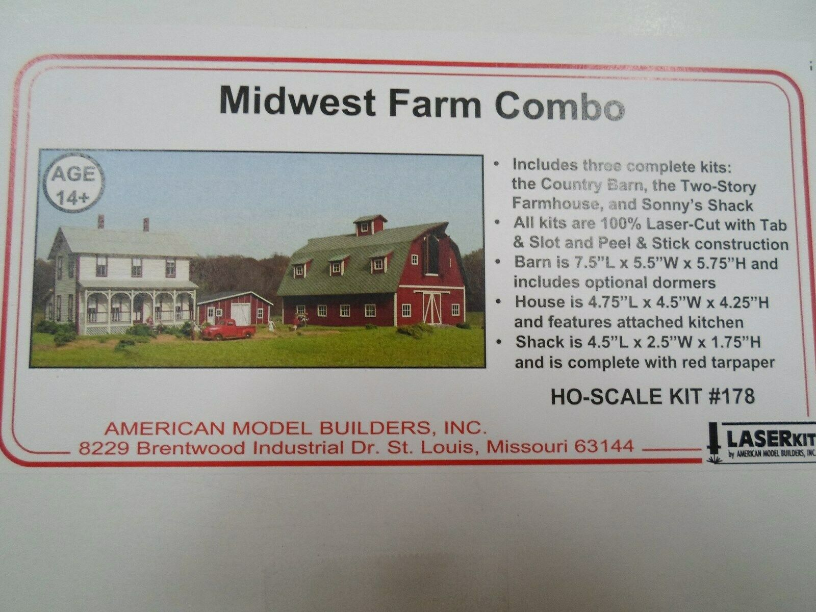 American modellolo builders,   Midwest Midwest Midwest Farm Combo a924ab