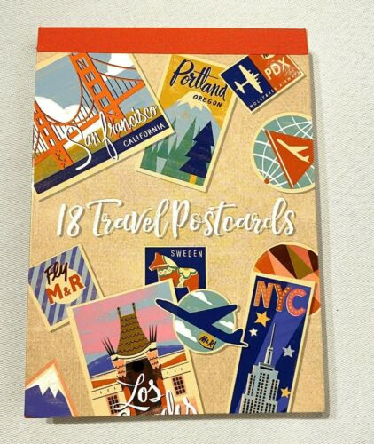 molly /& extra 18 count travel the world blank postcards