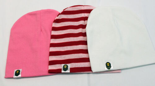 Pink White and Red /& White Stripe NEW Adorable Cotton Baby Hats Caps