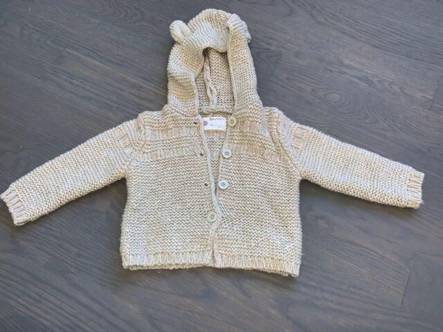 Zara Mini Baby Girl Hooded Knit Sweater Jacket Cardigan ...