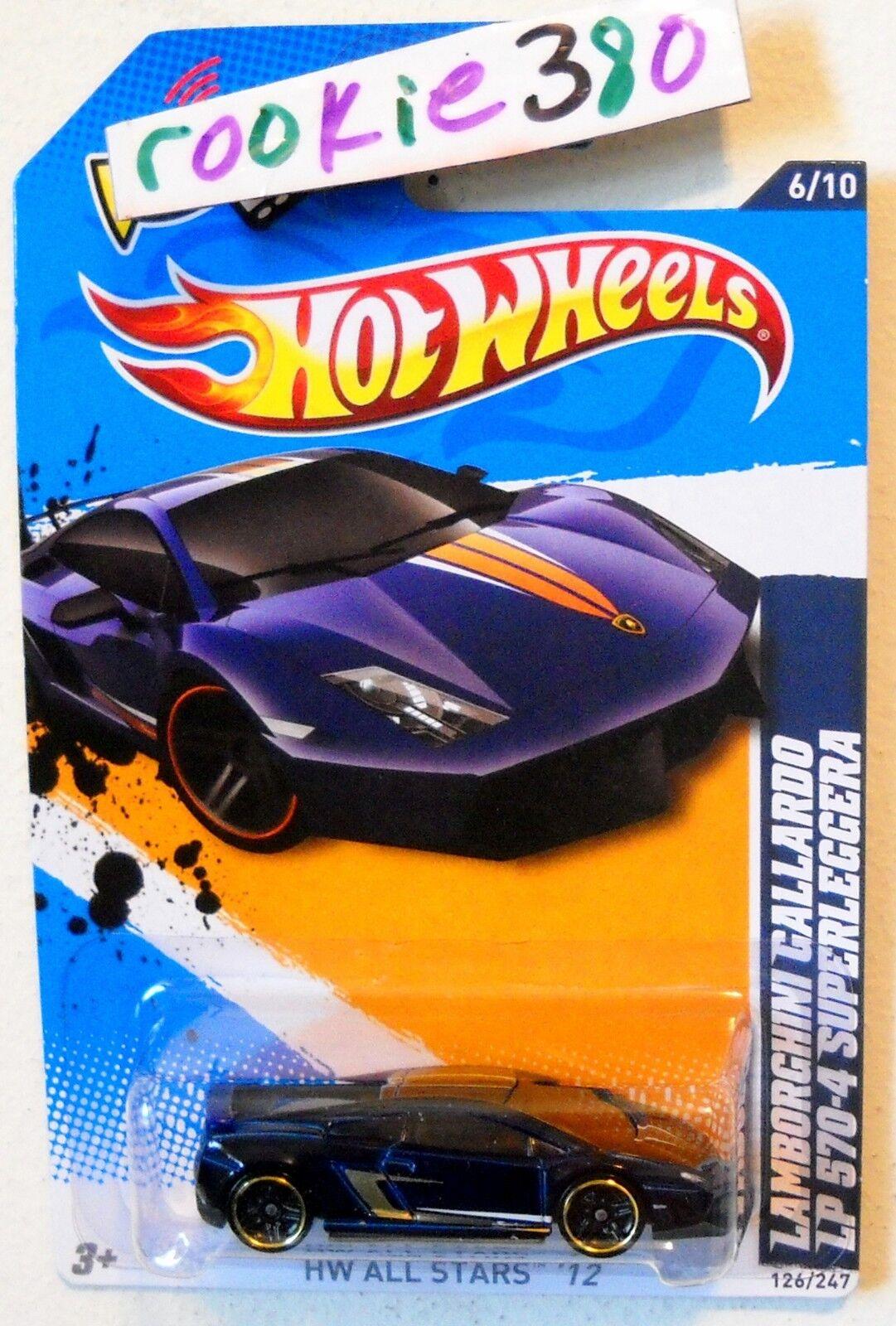 2012 Hot Wheels ALL STARS #126 LAMBORGHINI GALLARDO LP 570-4 SUPERLEGGERA *