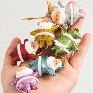 30-pcs-Multi-Color-Santa-Claus-Party-Ornaments-Xmas-Tree-Hanging-Decoration-US