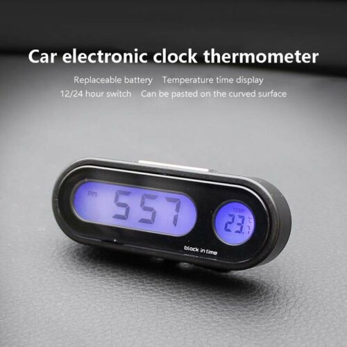 Car electronic clock Thermometer indoor outdoor digital center console luminous