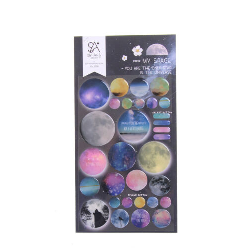 3D You are My Space Decor Diary Sticker Scrapbook PVC Stationery DIY StickeBLUS