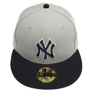 de0c5cfc6da New Era MLB New York Yankees Hat Basic Gray 2 Tone Fitted 59Fifty ...
