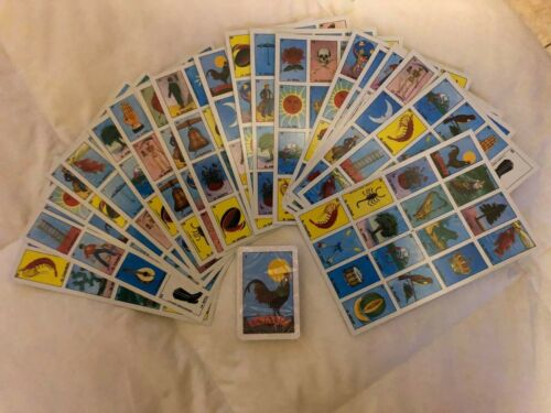 Mexican loteria 20 Playing Boards 54 Playing Cards