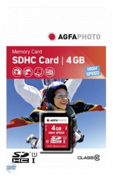 AGFA SDHC Card Karte 4GB Class10 UHS-I HighSpeed (10424) NEU (world) 005-128°