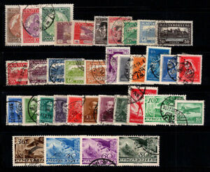 Ungheria-1922-1936-Usato-80-Religione-cultura-paesaggi-Celebrita-aereo